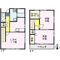 [テラスハウス] 埼玉県さいたま市北区吉野町2丁目 の賃貸【/】の間取り