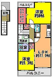 LUX[2階]の間取り