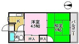 鎌倉スカイマンション[3階]の間取り