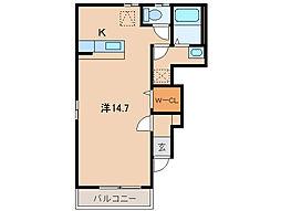 和歌山県和歌山市福島の賃貸マンションの間取り