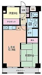 神奈川県横浜市泉区領家4丁目の賃貸マンションの間取り
