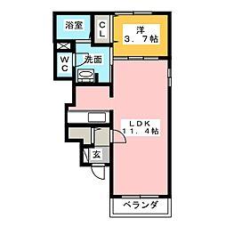 コンフォート鳥坂[1階]の間取り