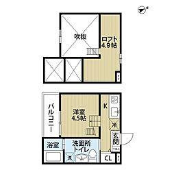 Tom's tenement3(トムズテネメントスリー)[201号室]の間取り