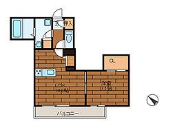 (仮称)町田市森野2丁目賃貸[1階]の間取り