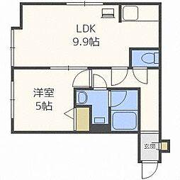 プラド新札幌[2階]の間取り