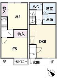 [タウンハウス] 三重県鈴鹿市野町東2丁目 の賃貸【/】の間取り