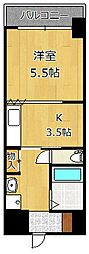 ヴィラコート戸畑元宮[8階]の間取り
