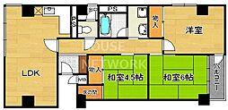 京福修学院マンション[407号室号室]の間取り
