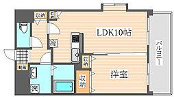 ピュア博多駅南2番館[7階]の間取り