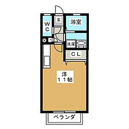 ソレイユU.S.J[1階]の間取り