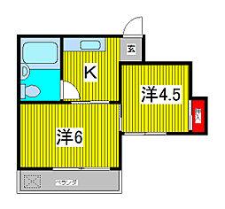 ファミーユ芝[2階]の間取り