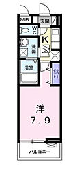 東京都江戸川区篠崎町4丁目の賃貸アパートの間取り