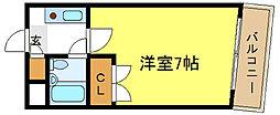 トーエー平野駅前ビル[3階]の間取り