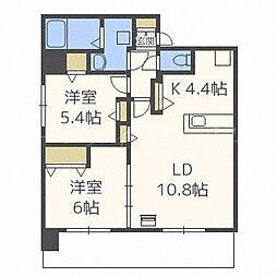 北海道札幌市中央区南九条西13丁目の賃貸マンションの間取り