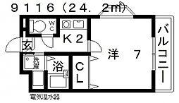 七神国府ビル[305号室号室]の間取り