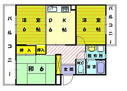 シティホールOZONO[3階]の間取り