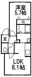 北海道札幌市豊平区豊平二条2丁目の賃貸マンションの間取り