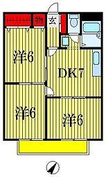 シティハイツコスモスII[2階]の間取り