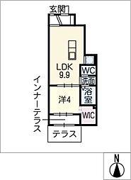 GNO.1四方良(シホウリョウ)[1階]の間取り