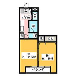 フジパレス[1階]の間取り