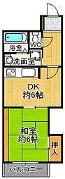 兵庫県尼崎市杭瀬本町2丁目の賃貸マンションの間取り