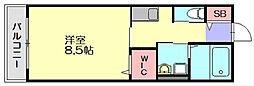 アルバ大刀洗B[2階]の間取り