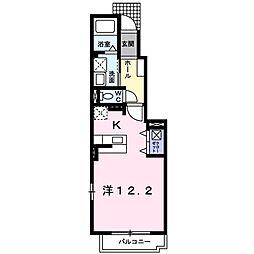 JR山陰本線 幡生駅 徒歩14分の賃貸アパート 1階1Kの間取り