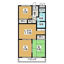 レジデンス鶴里[2階]の間取り