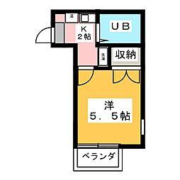 パレスRX伝馬町[2階]の間取り