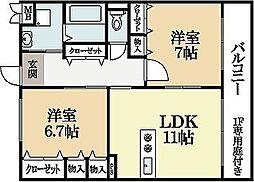 セラビ112[2階]の間取り