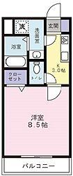Sun Rise五番館[5階]の間取り