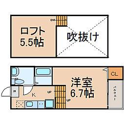 アストリア名駅 (アストリアメイエキ)[2階]の間取り