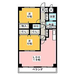 岩井通COSMOS[3階]の間取り