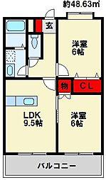 ペットビレッジKATO[2階]の間取り