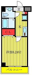 JR京浜東北・根岸線 川口駅 徒歩11分の賃貸マンション 5階1Kの間取り