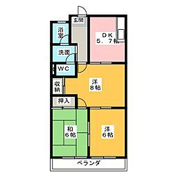 シティハイツ21[2階]の間取り