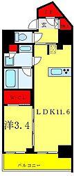 リビオメゾン御茶ノ水 2階1LDKの間取り