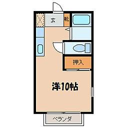 ハイツジュネス[2階]の間取り