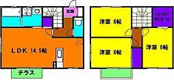 [一戸建] 静岡県浜松市中区小豆餅1丁目 の賃貸【/】の間取り
