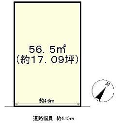 土地(大津駅から徒歩7分、56.50m²、980万円)
