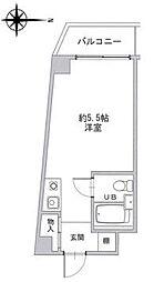 阪急京都本線 上新庄駅 徒歩9分の賃貸マンション 4階ワンルームの間取り