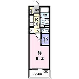 南海空港線 りんくうタウン駅 徒歩12分の賃貸マンション 1階1Kの間取り