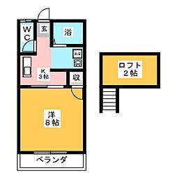 ジェノア[2階]の間取り