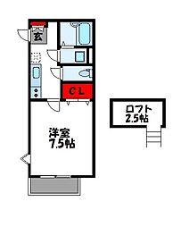 エムズガーデン[2階]の間取り