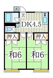 天王台ハイム[2階]の間取り