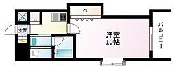 Osaka Metro御堂筋線 江坂駅 徒歩3分の賃貸マンション 4階1Kの間取り