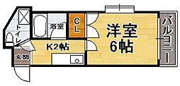 福岡県福岡市早良区曙2丁目の賃貸マンションの間取り