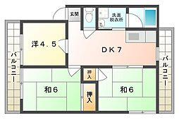 クリーンレイクマンション[2階]の間取り
