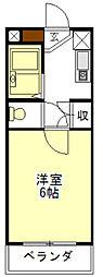 ミリオンハイツ[2階]の間取り