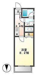 アリヴィオ東苑[1階]の間取り